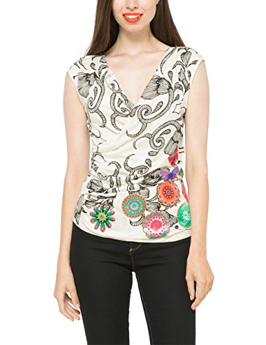Desigual TS_NOLITA-Top Donna    Bianco (Tiza) Medium
