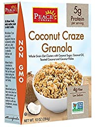 Peace Cereals, Cereal; Coconut Granola, Pack of 6, Size - 10 OZ, Quantity - 1 Case
