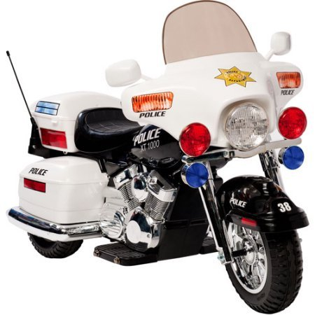 kid motorz police motorcycle 12 volt battery powered ride on with headlight hazard light and signal light little kid cars