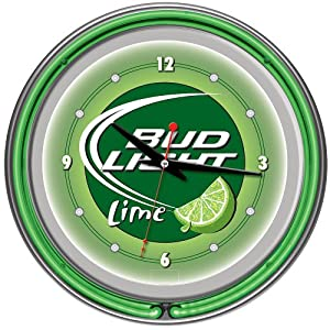 New== Trademark Bud Light Lime 14 Inch Neon Wall Clock #2: 51w4y NhqGL SY300