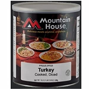 MOUNTAIN HOUSE DICED TURKEY #10 Can - Set of 6 CANS New! by mountain house food
