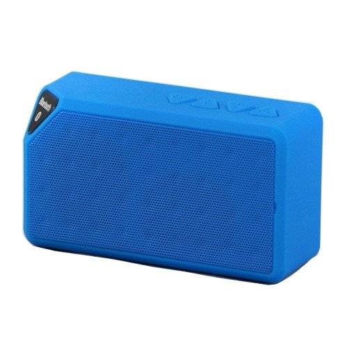 Baxia Portable Wireless Bluetooth Speaker With Built In Speakerphone Rechargeable Battery (Blue)