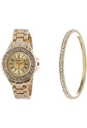 Breda Women's 2355-setgold Leah Rhinestone Watch Set