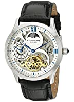 Stuhrling Original Classic Winchester Tempest II men's automatic Watch with black Dial analogue Display and black leather Strap 571.33151