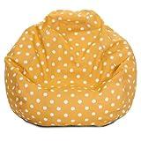 Majestic Home Goods Ikat Dot Bean Bag, Small, Citrus