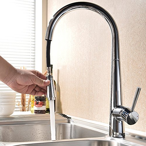 Kes Kitchen Faucet Pull Out Spray Single Handle Contemporary Style Single Hole Bar Sink Water