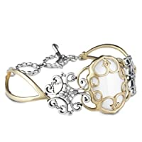 Relios Mixed Metal White Agate Statement Bracelet from Relios