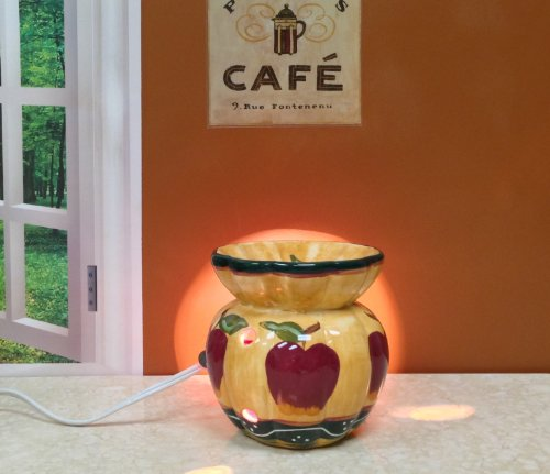 """Country Apple Electric Tart Burner 5 3/8""""H, 84165 By Ack"""