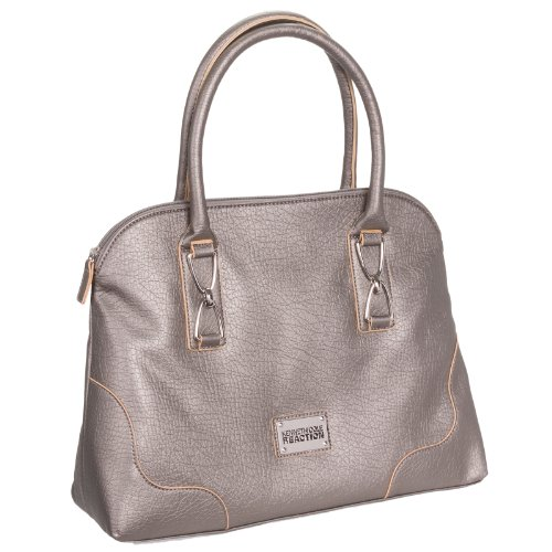 Kenneth Cole Reaction Women'S Marbella Dome Satchel Handbag Bag (Platinum)