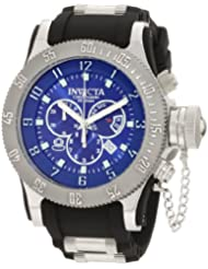 Invicta Men's 10134BBB Russian Diver Off Shore Chronograph Blue Dial Black Polyurethane Watch