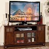 Sunny Designs 3460DC Santa Fe TV Console in Dark Chocolate