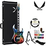 GoDpsMusic MAB1 Dean Michael Angelo Batio Signature Guitar with Speed of Light Graphic with Accessories and Hard Case