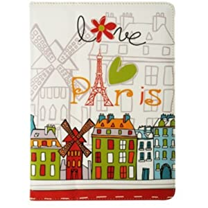 Akashi ALTESTAB121237 Paris Designs Etui de protection en cuir PU pour Samsung Galaxy Tab 10,1""