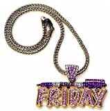 Pink Friday Nicki Minaj Necklace Gold and Pink Pendant Necklace