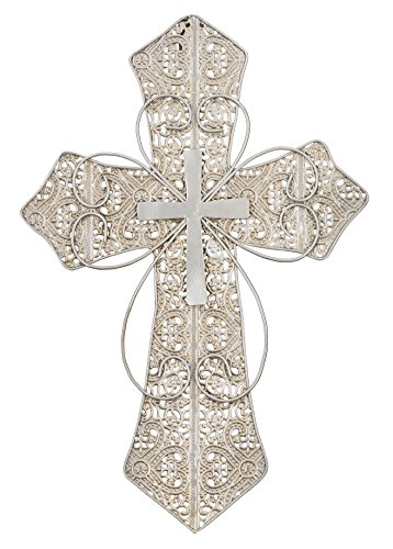 Regal Art & Gift Swirl Lace Wall Cross Decor