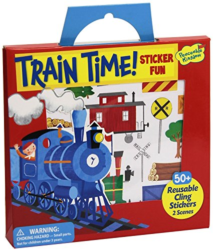 Peaceable Kingdom Sticker Fun! Train Time Reusable Sticker Tote