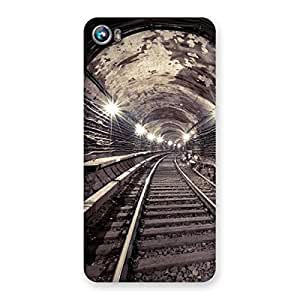 Enticing Track in Tunnel Back Case Cover for Micromax Canvas Fire 4 A107