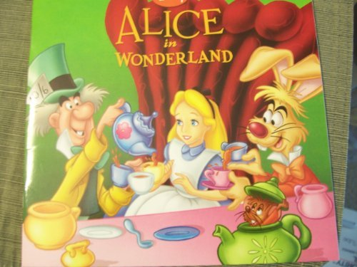 "Disney Alice in Wonderland (2009) (8"" x 8"" Paperback) - 1"