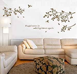 TRURENDI Bird Tree Wall Art Sticker Removable Vinyl Decal Mural Quote Home Decor DIY from haya