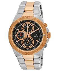 Titan Octane Chronograph Black Dial Mens Watch - NE9308KM02J