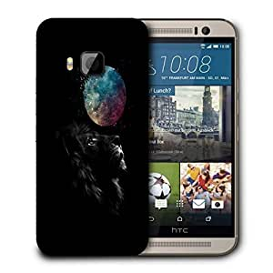 Snoogg Black Lion Designer Protective Back Case Cover For HTC ONE M9