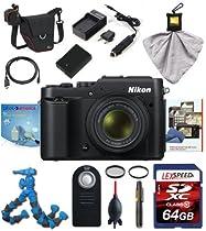 Nikon COOLPIX P7800 (Black) w/ Deluxe Kit 64GB