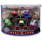 "Disney Pixar Cars Toon Exclusive ""Deluxe Monster Truck Mater / Martin Figurine Set"" - PVC - 5 Cars (Disneystore exclusive) - Véhicule Miniature - Voiture"