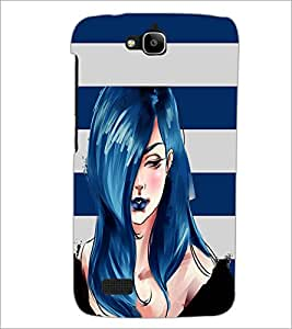 PrintDhaba Sweet Girl D-3954 Back Case Cover for HUAWEI HONOR HOLLY (Multi-Coloured)
