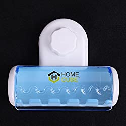 HOME CUBE TM 5 Toothbrush Wall Mount Toothbrush Holder Set W/ Suction Cup