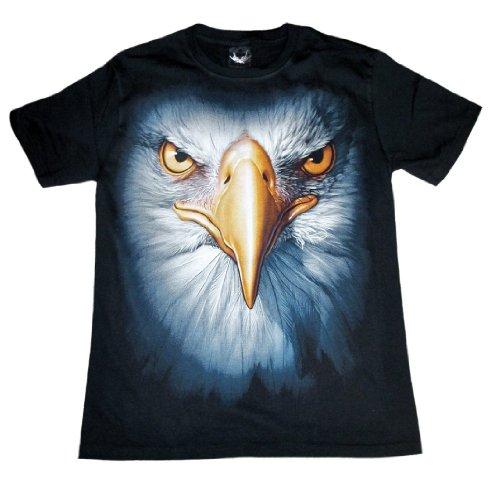 Shirtland Eagle Portrait T-Shirt - Black-L