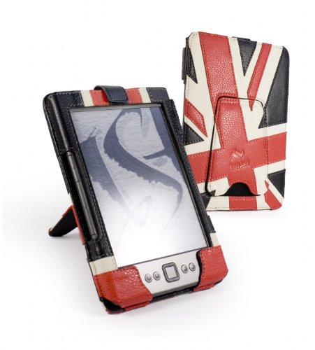 Tuff-Luv Sleek Jacket case cover & Stand with screen protector for Kindle 4 / Kobo Touch - Union Jack
