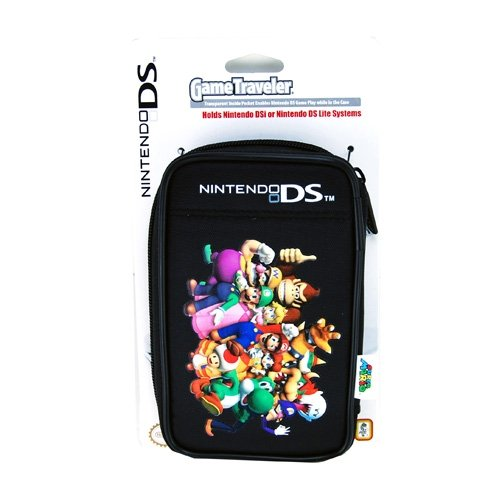 DS Lite/DSi Super Mario Characters Game Traveler Case - Black