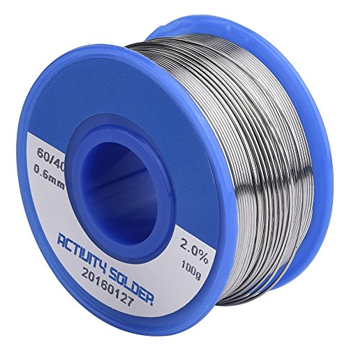Discover Bargain Mudder 0.6mm 60% Sn. 0.22lb. 2% Flux Solder Wire with Rosin Core