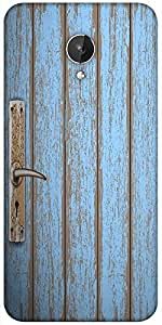 Snoogg Old Wooden Door Designer Protective Back Case Cover For Micromax Canvas Spark Q380