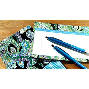 Ana Grace 4-piece Planner Set in Dark Blue with Paisley
