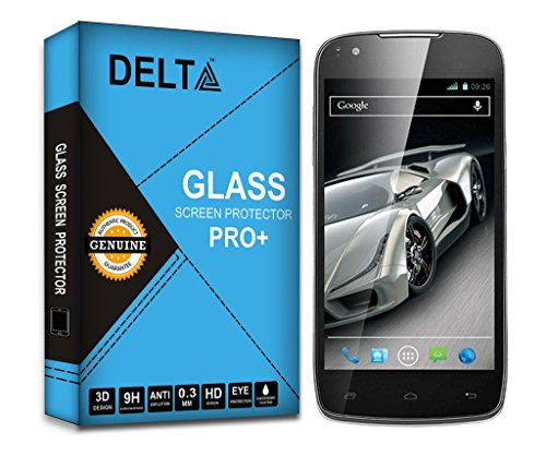 XOLO Q700s Screen Protector,Delta Premium Pro+ Tempered Glass,Shatter Proof Screen Protector for XOLO Q700s with Cleaning Kit [2.5D round Edges,0.3mm,9H hardness]  available at amazon for Rs.185