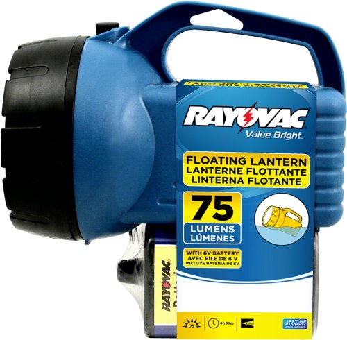 Rayovac Value Bright 75 Lumen Floating Lantern With 6V Battery (Efl6V-Ba)