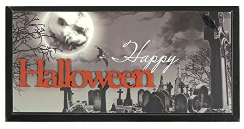 Halloween Decor 12x6 Inches Happy Halloween Wall Decorations