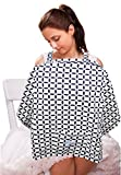 "Nursing Cover with Front Pocket - Perfectly Sized Baby Breastfeeding Cover-Ups for Privacy (27"" x 37"") - Premium Cotton - Breathable & Durable - Machine Washable"