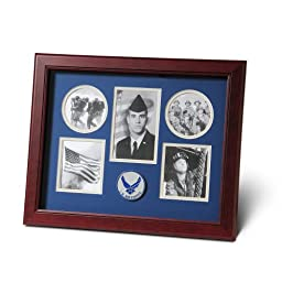 Allied Products Frame Aim High Air Force Medallion 5 Picture Collage Frame