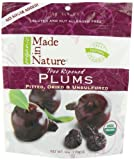 Made In Nature Organic Plums, Pitted, Dried and Unsulfured, 6-Ounce Bags (Pack of 6)