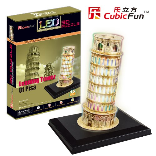 Free Shipping!Diy 3D Puzzle Paper Model Empire State Buklding With Led Light 13Pcs Home/Office Decoration
