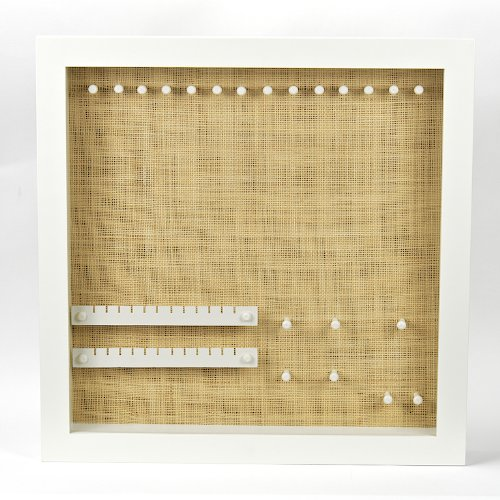 izzy jewel box large white raffia wall mounted combo