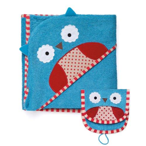 Skip Hop Zoo Towel And Mitt Sets, Owl front-900803