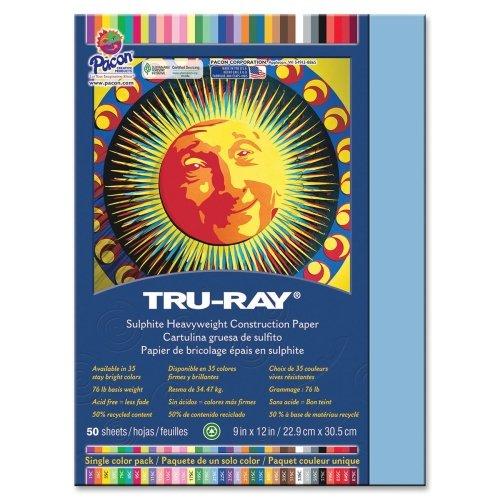 "Tru-Ray Sulphite Construction Paper - 12"" x 9"" - Sky Blue"