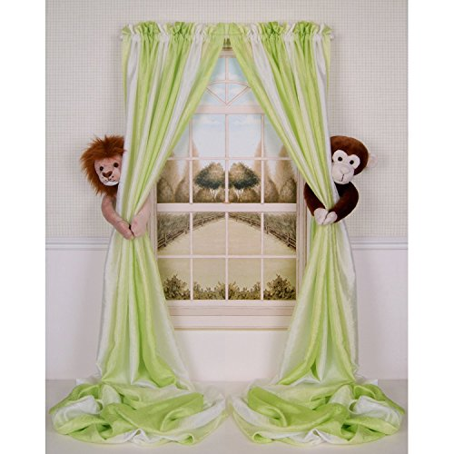 Curtain Critters ALLNMK250510COL Plush Safari Lion and Chocolate Monkey Curtain Tieback Collector Set