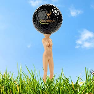 Official Nuddie Golf Tee Lady by NuddieTees.com - Includes 10 Nudie Lady Golf Tees, 2... by NuddieTees.com
