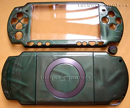 3D Green PSP 2000 Full Shell Cover Housing Replacement with Button Set