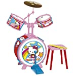 Reig Hello Kitty Drum Set with Stool...
