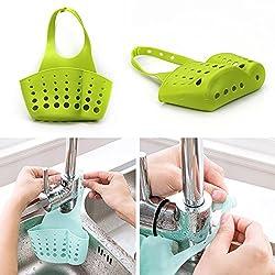 LussoLiv Kitchen Portable Hanging Drain Bag Basket Bath Storage Gadget Tools Sink Holder